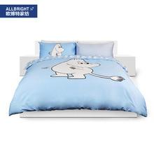 Allbright sábanas juego de cama de cuatro pedazos de algodón de Dibujos Animados serie Moomin