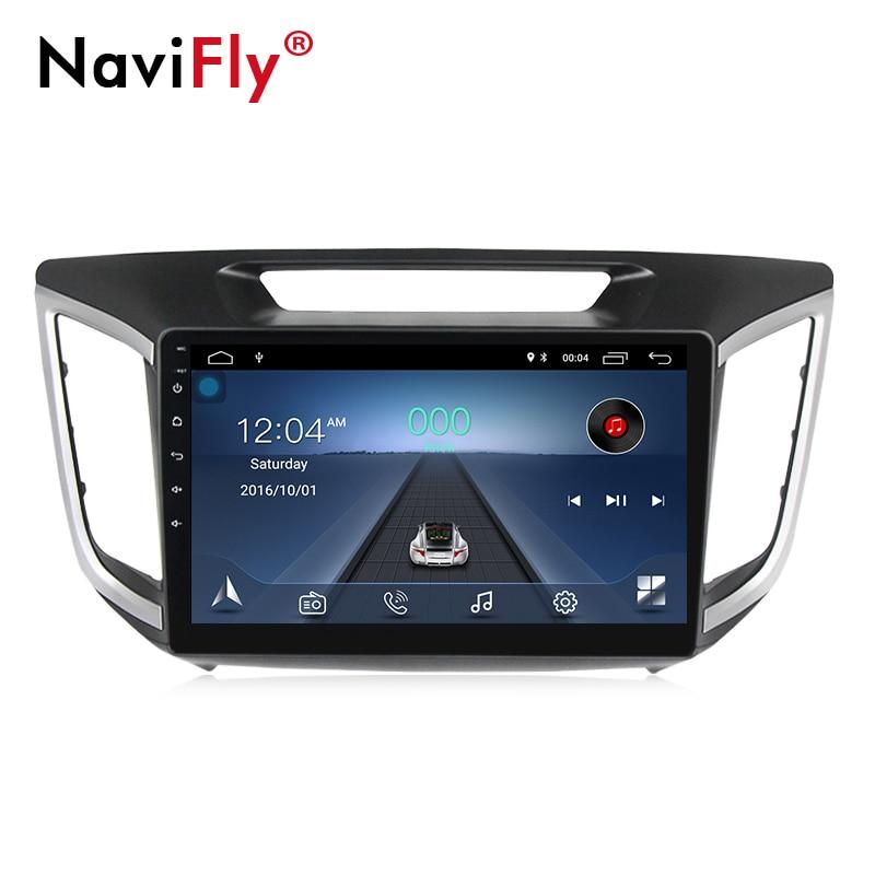 Navi-Fly táctil de 10.1 polegada de tela grande Android8.1 Multimídia player De Vídeo Do Carro para Hyundai ix25 Creta 2014- 2018 com gps navi
