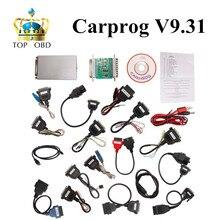 Новый Автомобиль прог Carprog V9.31 Полный 21 Адаптер Профессиональный Carprog ЭКЮ Программист Auto Repair Airbag Reset Инструменты лучшая цена