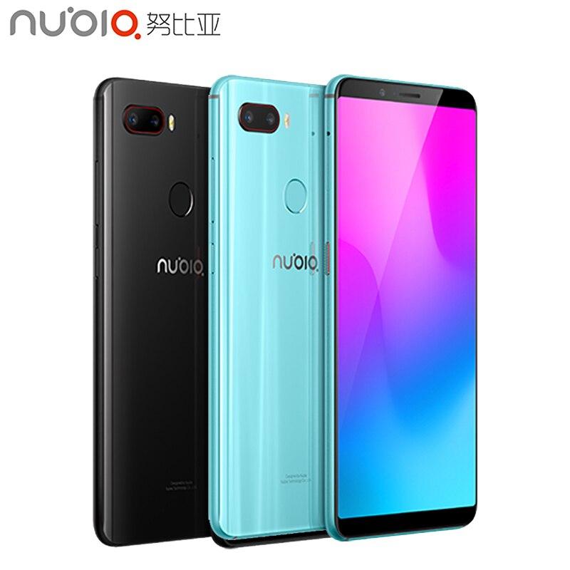 Cargadores de coche ZTE Nubia Z18 Mini teléfono celular 5,7 pulgadas de pantalla 6GB RAM 128GB ROM Octa Core Snapdragon 660 Android 8,1 Dual cámara trasera Smartphone