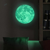 T08035 Creative Fantasy Moon Fluorescent Stickers Children S Room Decorative Wall Stickers Environmental Protection Home Decor
