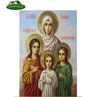 Religious DIY Diamond Painting Icon Full Square Dirll Inlaid 5D Diamond Embroidery Religion Fashion Cross Stitch
