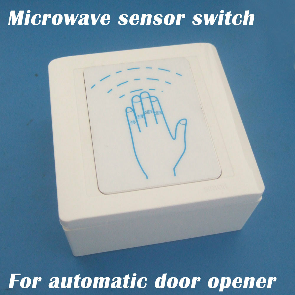 Free Shipping Automatic Door Microwave Contactless Switches For Automatic Door Opening