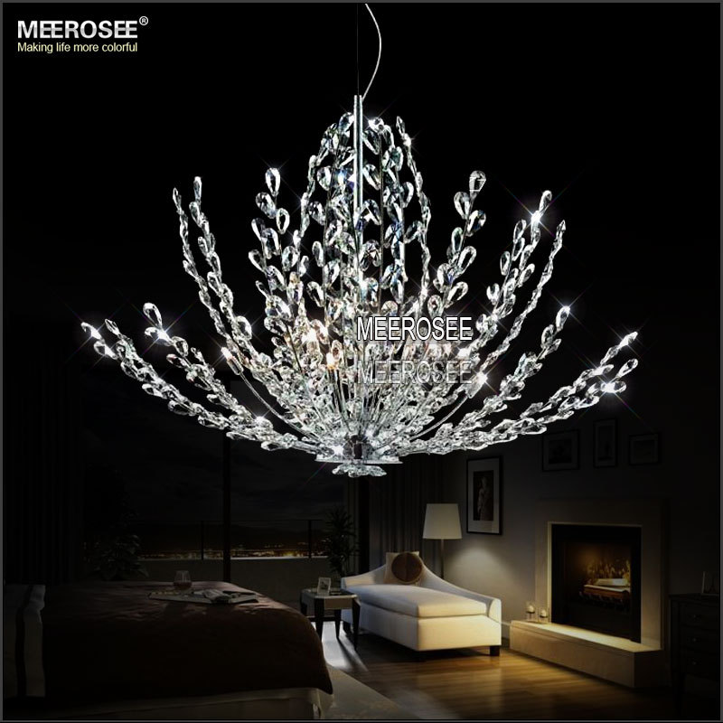 Buy modern crystal pendant light fixture for Lustre 3 suspensions