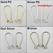 Pick 4 Colors 150pcs South Korea Earring Wire Earwire 15X39mm  For Jewelry Making Free Shipping(w02912)