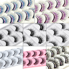 Косметика icycheer, 5 пар, цветные блестящие ресницы с бриллиантами, накладные ресницы, вечерние, косплей, Хэллоуин, длинные, толстые, натуральные ресницы