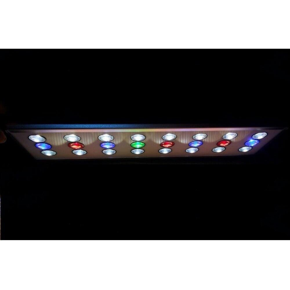 Nouveau Aquarium lumière poisson réservoir 1 W grand lumière LED lampe 2 Mode 40 cm 50 cm 60 cm 90 cm blanc + bleu + vert + rouge planté lumière LED pour Aquarium