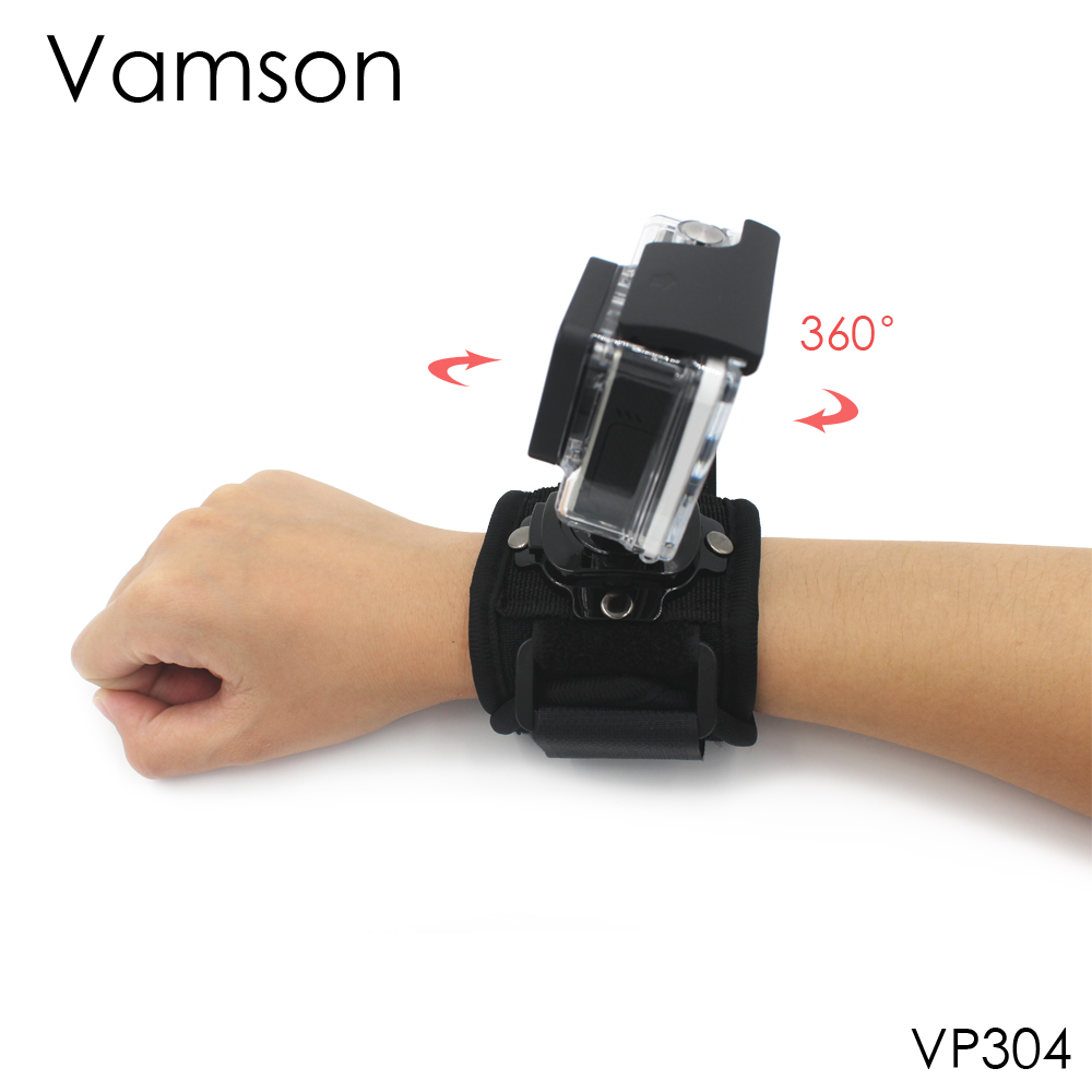 Go Pro Accessories 360 Degree Rotation Hand Strap Wrist Mount For Gopro Hero 4 3+ 2 1 SJCAM Xiaomi Yi Action Camera VP304