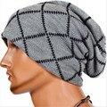 Новая Мода Полосатый Ромб Хип-Хоп Kintted Hat Вязание Кос Шапочки папа Шляпу Открытый Лыжи Мужчин Хоккей Шляпа Зимние Шапки Для Мужчин