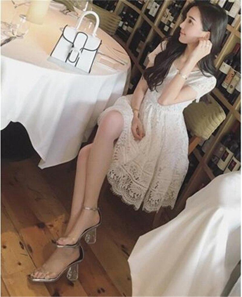 Feminino Boda Princesa Pvc As Transparente Nuevo Del Sandalias Mujer 2018 Dulce Zapatos Sapato La De Show Show as Diseñador xv4x6A