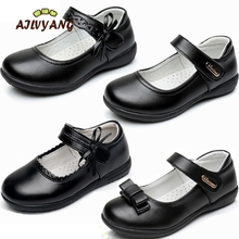 Child Genuine Leather Shoes Girls Princess Formal Cow Split