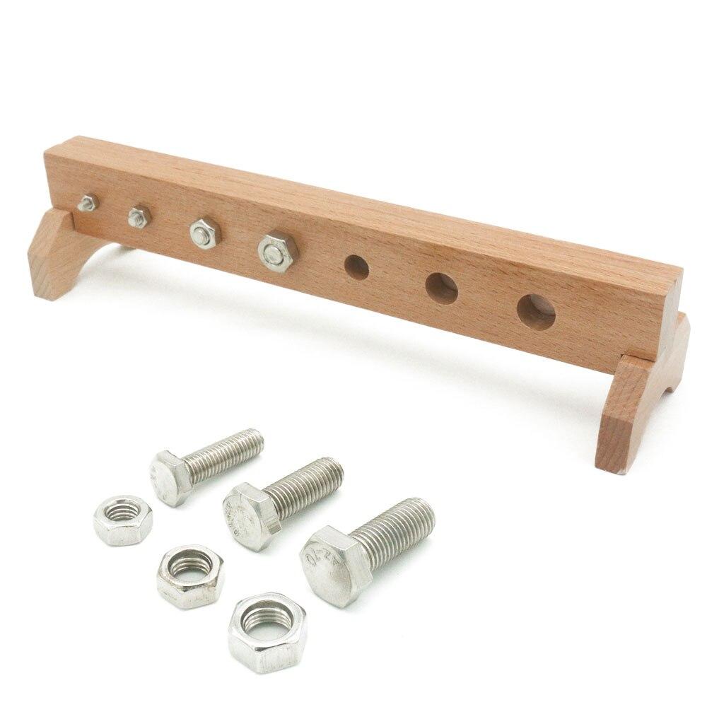 Montessori vie pratique matériaux vis et écrou jouets éducatifs en bois jouets pour les tout-petits Juguetes Montessori E2464H