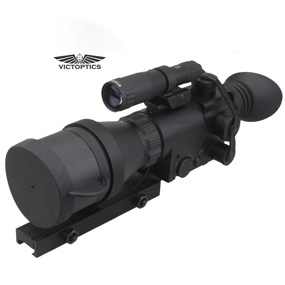 VictOptics 4x60 caza NightVison Scope Riflescope IR para sesión nocturna con 9 niveles de iluminación