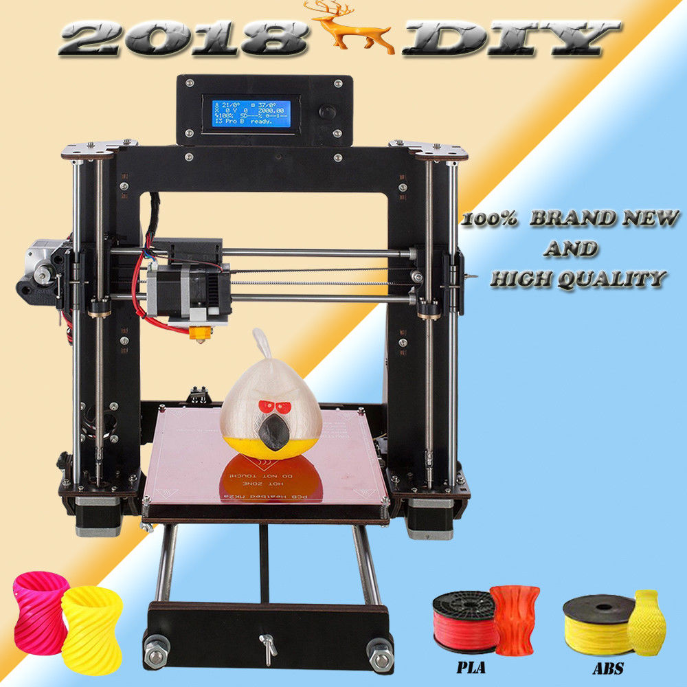 2018 NEW 3D Printer Prusa i3 Reprap MK8 DIY Kit MK2A Heatbed LCD Controller Impressora 3D