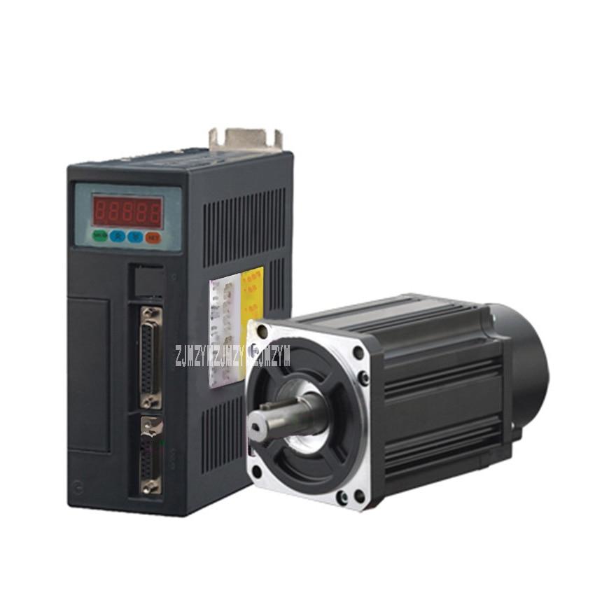 цена на New Arrival 220V 4N.M. AC Servo Motor 86 * 86 Flange Installation 16mm 1KW Servomotor 90ST-M04025 2500RPM AC Servo Motor+ Driver