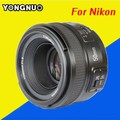 YONGNUO YN 50mm YN50mm F1.8 large aperture auto focus lens For Nikon D800 D300 D700 D3200 D3300 D5100 D5200 D5300 DSLR Cameras
