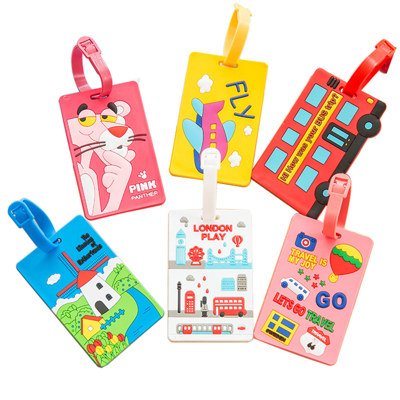 20PCS/Lot Wholesale Cartoon Luggage Tags Luggage Label Straps for Suitcase #117 ...
