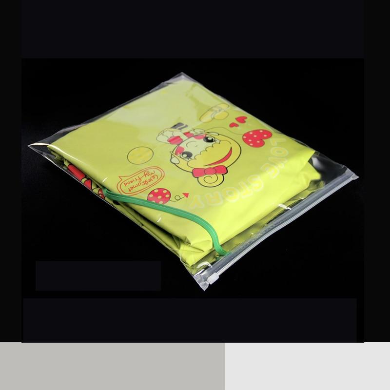 Відкритий пластиковий одяг Zip Lock багаторазові сукні упаковки прозорі блискавки зберігання одягу самоврядування герметичний пакет мішечок