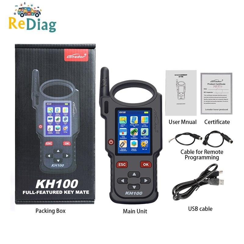 Lonsdor Original KH100 Hand-Held Remote Key Programmer Generator Detect IMMO Unlock Smart Key For Toyota