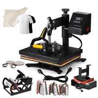 8IN1 Hitze Presse maschine T-shirt 30x25cm Digitale Hitze-Pressen Timer Control