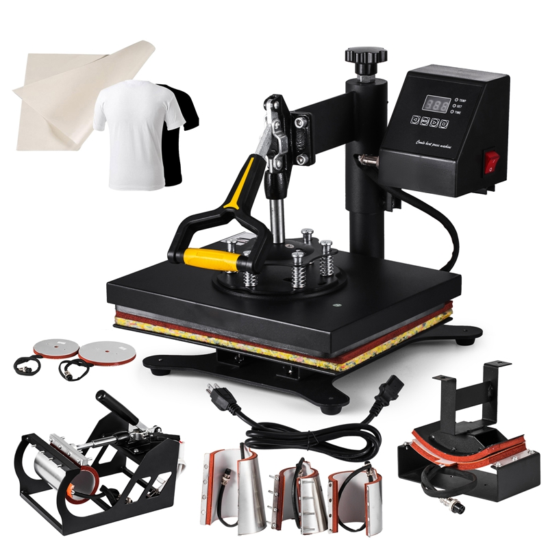 Imprensa do Calor T-shirt maschine 30 8IN1x25 cm Hitze-Pressen Controle Timer Digital