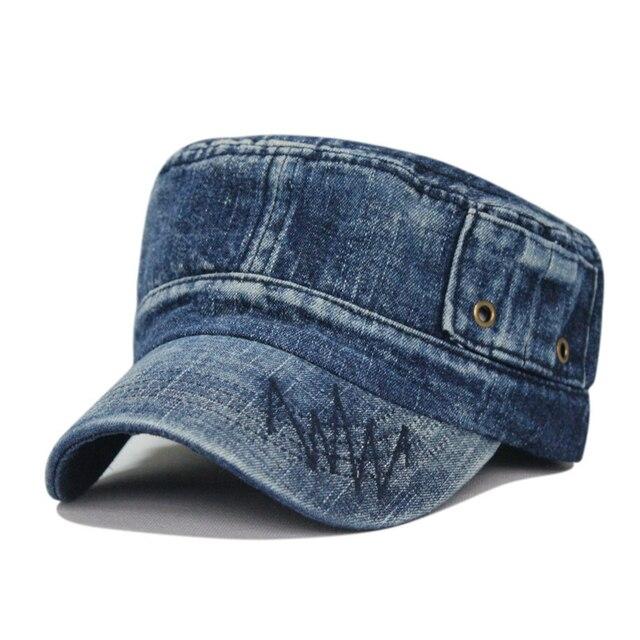 Мода стиральная старомодным джинсовой дышащий открытый армия крышка досуга бейсболка 4 цвет 1 шт. новый прибыть