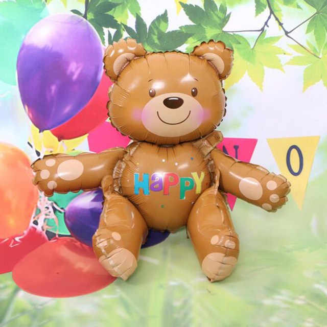 1pcs 3d Bear Foil Balloons Baby Shower Decoration Helium Balloon