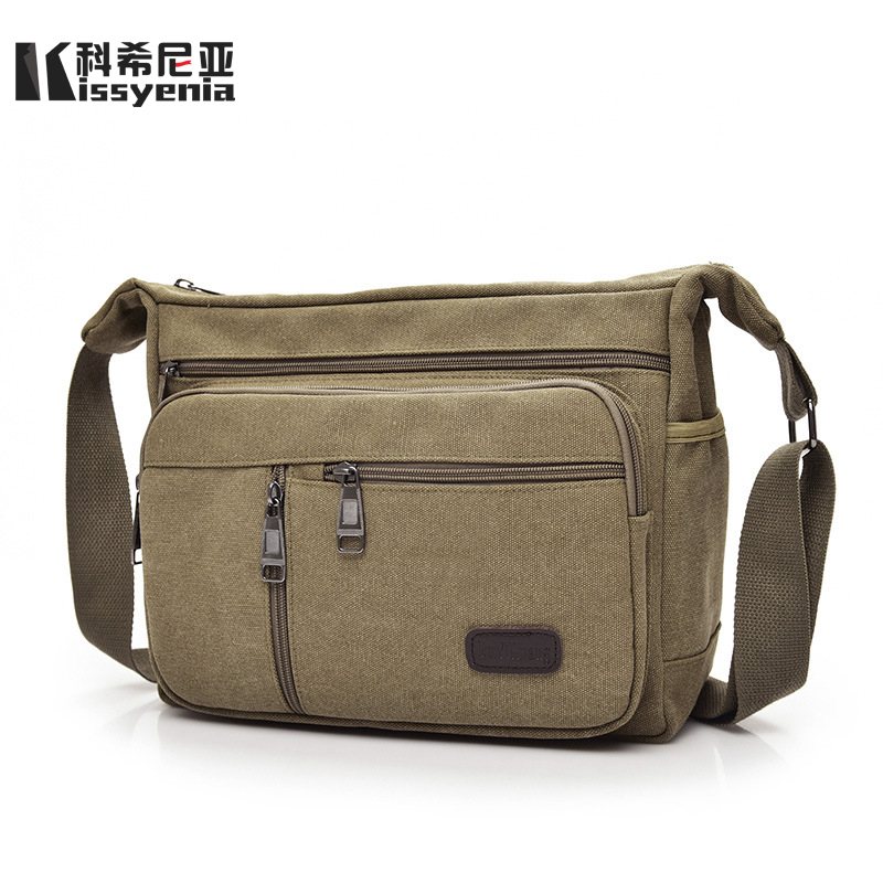 Canvas Shoulder Bags Messenger Bags Business Crossbody Canvas Travel Handbag KS1136