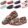 Мода дети парусиновые туфли девушки парни обувь свободного покроя дети кроссовки девочки кроссовки печать дети мокасины обувь