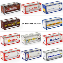 C8723 2PCS 1:87 20ft Oil Tank Container Shipping Container Freight Cars HO Scale