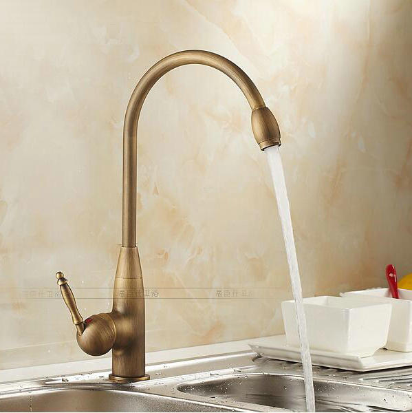 Free shipping new style antique brass finish faucet kitchen sink bathroom basin faucets mixer tap H2111