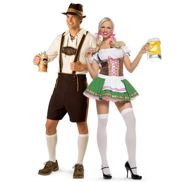 9ef91a9f52 New Mens Oktoberfest Bavarian Beer German Lederhosen Fancy Dress Costumes  Outfit