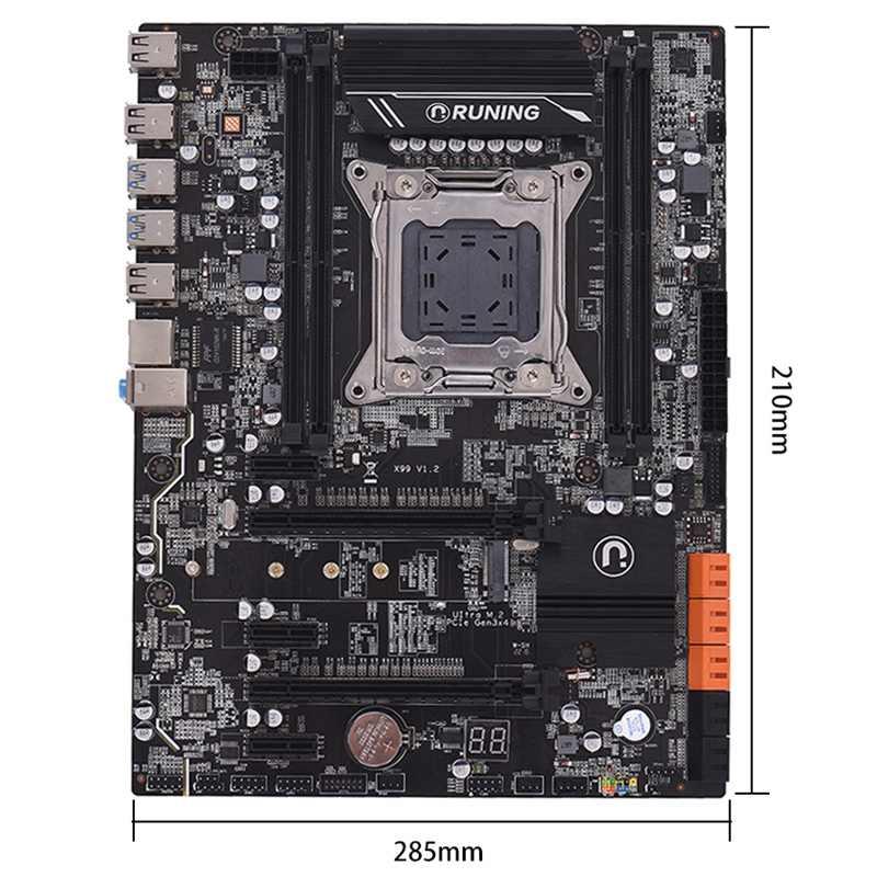 PPYY nueva X99 Lga2011-3 placa base Intel I7 E5-V3/E5-V4 4-Canal Ddr4 64G Ram Ssd Nvme M.2... Sata3.0... Usb3.0... Pcie16X