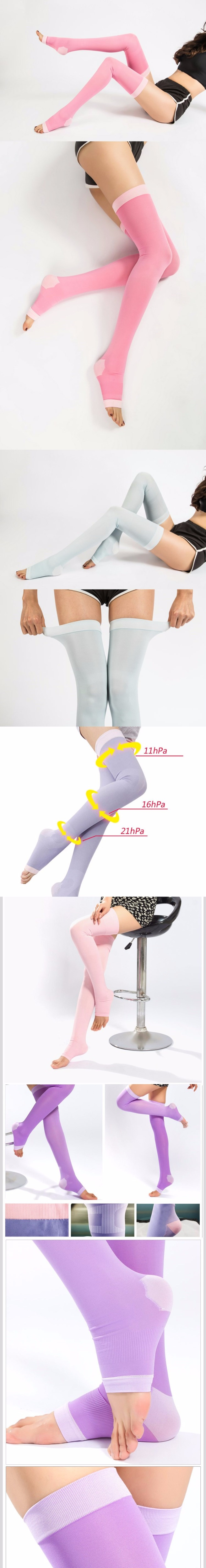 a203123fef 2019 Elastic Compression Stockings For Men Women Sleep Slim Leg ...