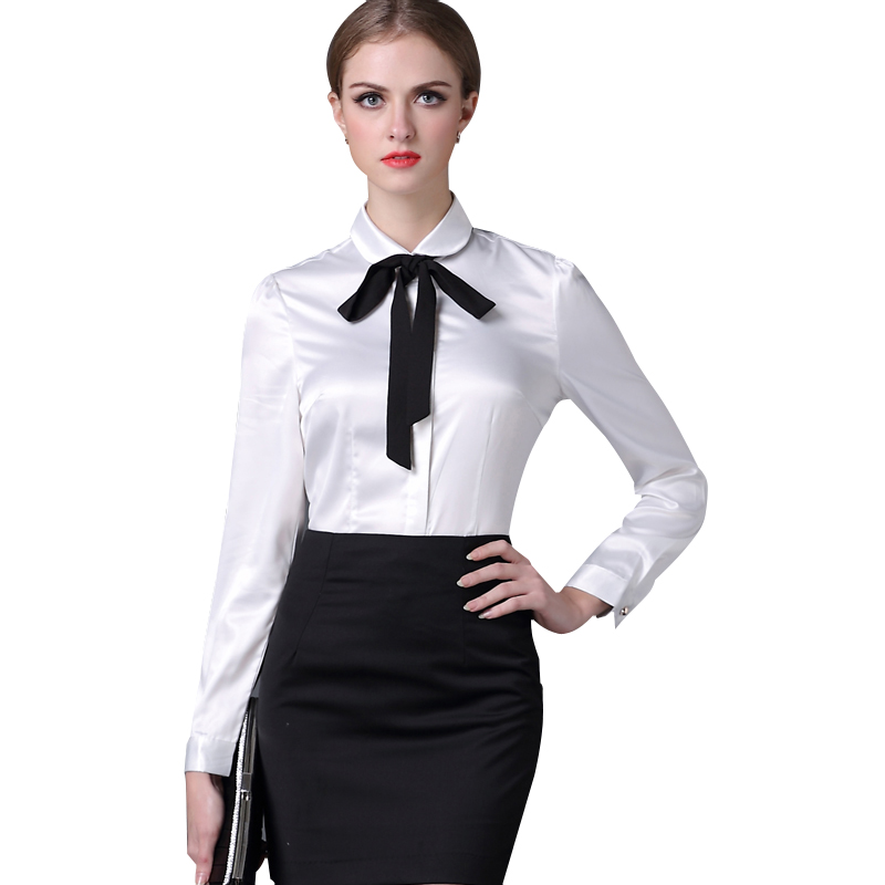 Brand New 2017 Autumn Style Solid Peter pan Collar Long-Sleeve Shirts Women Plus Size 4XL Blouses Casual Tops Blusas