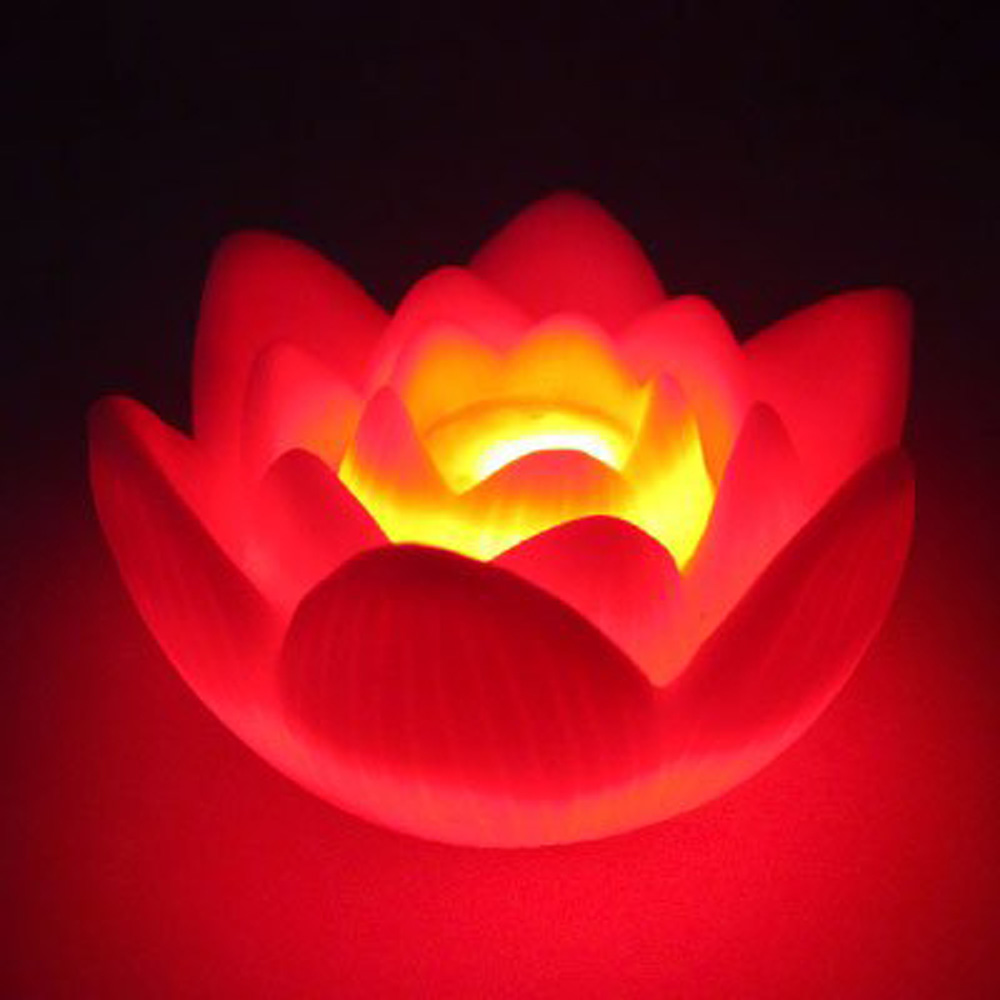 Promotion Color Changing Led Lotus Flower Romantic Love Mood Lamp