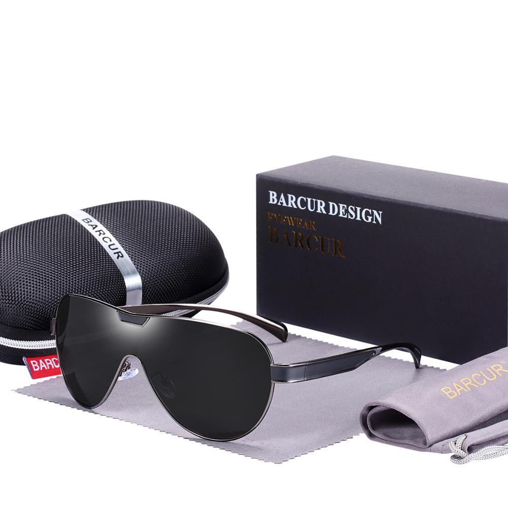 BARCUR Driving Polarized Sunglasses Men Brand Designer Sun glasses for Men Sports Eyewear lunette de soleil homme 11