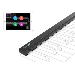 O um piano hi-lite apto para 88 teclas de teclado eletrônico tira de luz led barra de piano inteligente