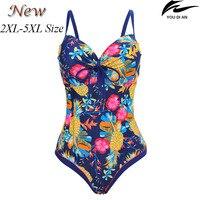 2017 New Female Women Swimsuit One Piece Plus Size Russian Swimwear Large Size Swimming Suit Big