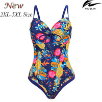 2017 New Female Women Swimsuit One Piece Plus Size Russian Swimwear Large Size Swimming Suit Big