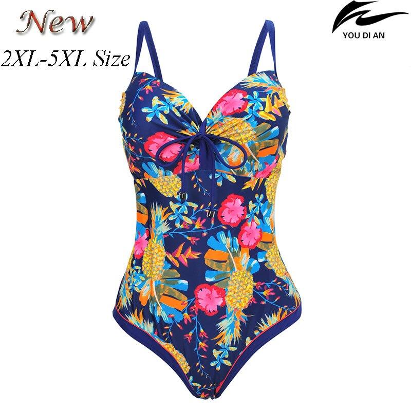 Nouvelle Femelle femmes maillot de bain une pièce plus la taille maillot de bain russe maillots de bain grande taille maillot de bain grande taille plage de bain porter