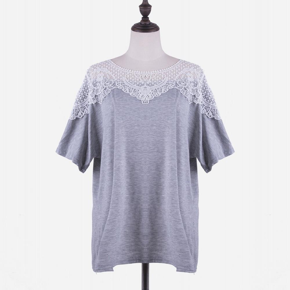 פלוס מידה XL-5XL 2018 חולצת T רופף נשים עבור - בגדי נשים