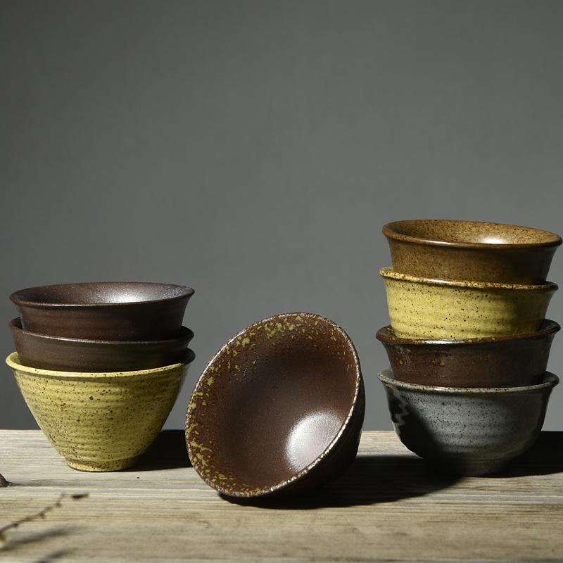 zen japons estilo vintage esmalte de cermica gruesa taza de t hecho a mano taza de