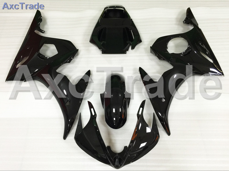 Motorcycle Fairings Kits For Yamaha YZF600 YZF 600 R6 YZF-R6 2003 2004 2005 03 04  ABS Injection Fairing Bodywork Kit Black A874 hot sales yzf600 r6 08 14 set for yamaha r6 fairing kit 2008 2014 red and white bodywork fairings injection molding