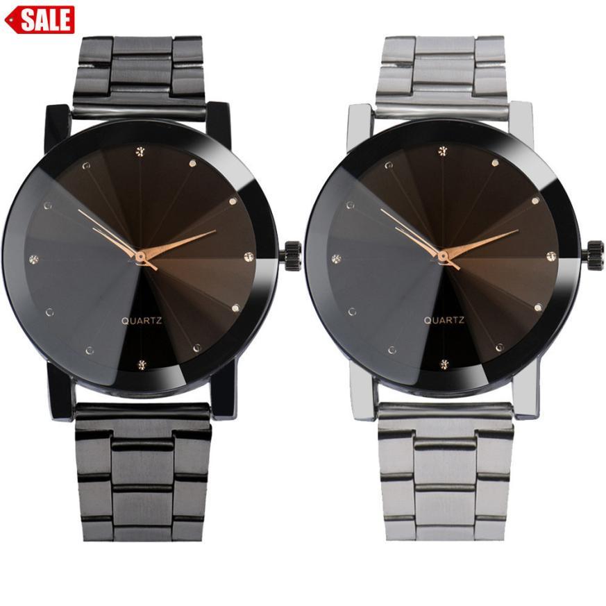 Men's Watch 1PC Fashion Man Women Crystal Stainless Steel Analog Quartz Wrist Watch drop shipping jun12 аксессуары для укладки волос co e olive 100g