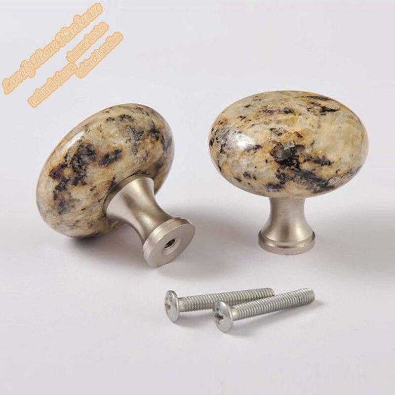 40mm Round Granite Drawer Knobs Gold Kitchen Cabinet