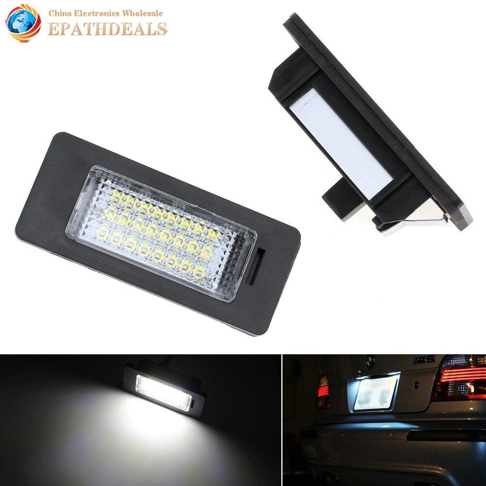 2pcs! 12V SMD3528 Car LED License Plate Light Bulb Lamp for Auto AUDI A4 S4 A5 S5 Q5 TT TT-RS / PASSAT 5D R36 фары номерного знака candy 5 18 smd audi audi a4 b8 s4 a5 s5 q5 s tt rs