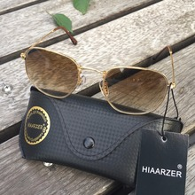 High Quality Real Glass Classic G15 Hexagonal Women Sunglasses Men Brand Sun Glasses Female Male Mirror Oculos De Sol 3548