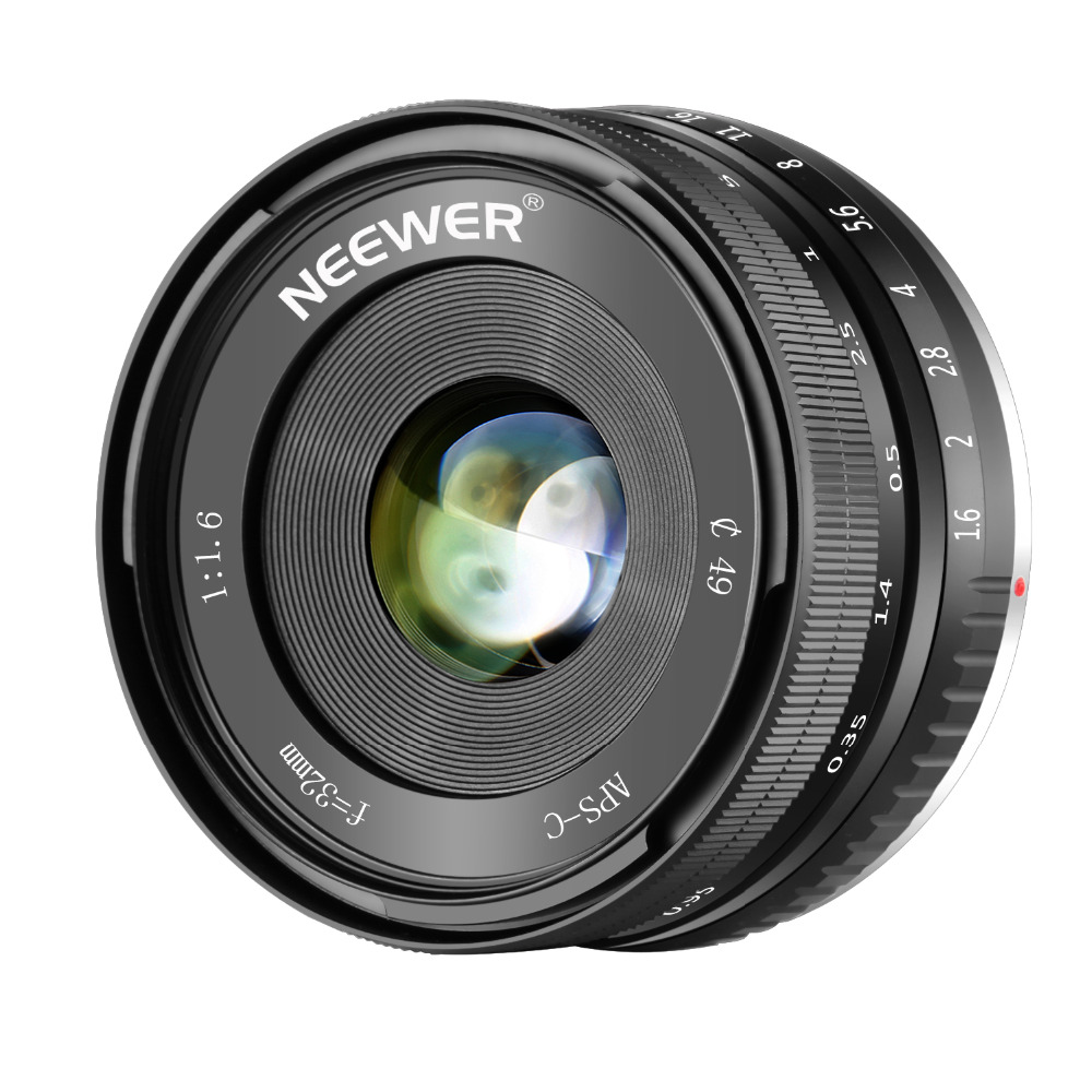 Neewer 32mm F/1.6 Manual Focus Prime Lens Sharp High Aperture Compatible with Sony E-Mount APS-C Mirrorless Camera like SONY Neewer 32mm F/1.6 Manual Focus Prime Lens Sharp High Aperture Compatible with Sony E-Mount APS-C Mirrorless Camera like SONY