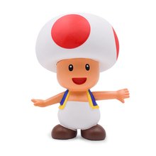 8 18cm Super Mario Bros Mushroom Toad PVC Action Figures Toys for Children Collection